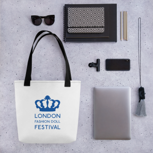 'London Fashion Doll Festiva' Crown Logo Tote bag