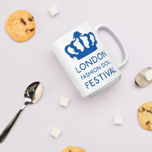 'London Fashion Doll Festival' Crown Logo Mug