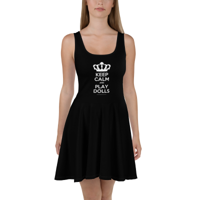 'Keep Calm and Play Dolls' Skater Dress 2